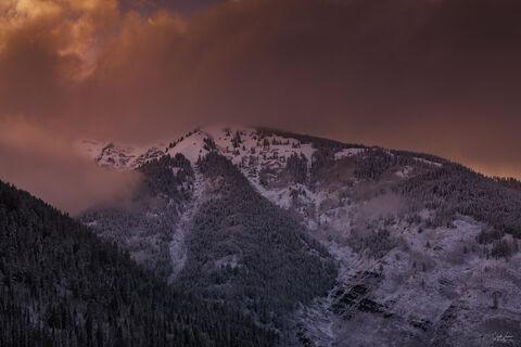 Sunset near Aspen in Colorado.