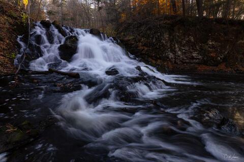 Zabrieskie's Waterfall in Upstate New York during November.