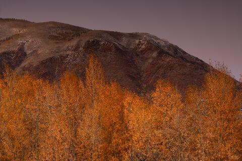 Sunset over Red Mountain near Aspen in Colorado.