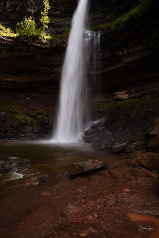 View of Kaaterskill Falls in the eastern Catskill Mountains of New York.