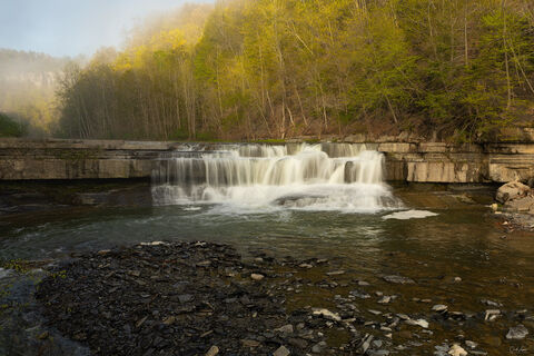View of Falls at Taughannock Falls State Park in New York.