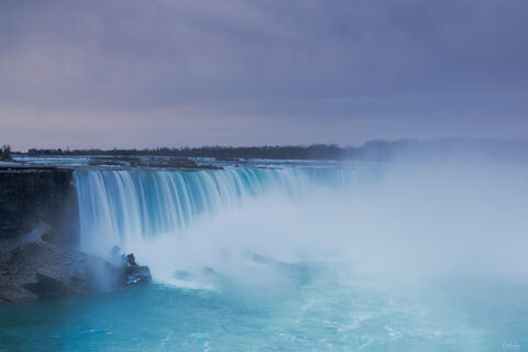 View of Horseshoe Falls at Niagara Falls on the Canadian side.