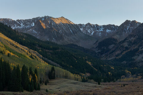 View on the Elk Mountains in Ashcroft in Colorado.