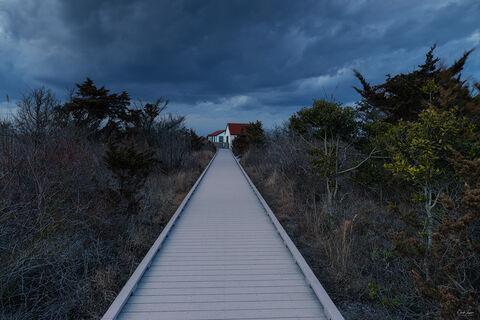 Boardwalk at Fire Island in New York.