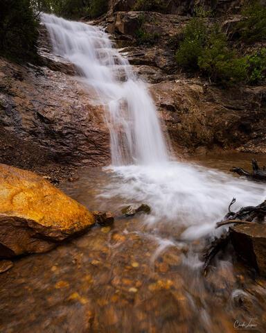 Waterfall near the Million Dollar Highway in Colorado.