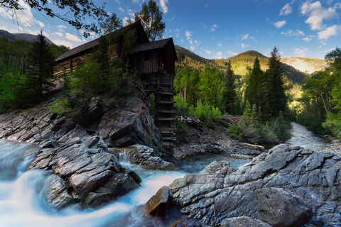 View of the Crystal Mill in Crystal in Colorado.