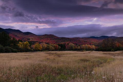 Dramatic clouds forming over Mount Marcy in Keene Valley in New York.