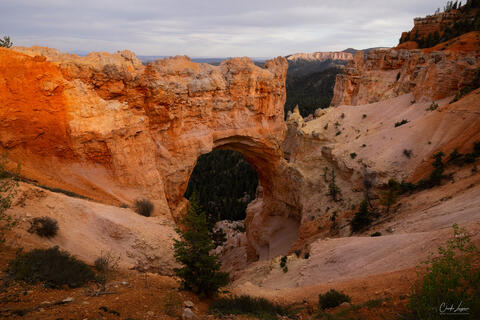 View of arch at Bryce Canyon National Park in Utah.