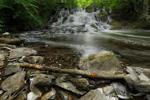View of Zabriskie's Waterfall in New York.