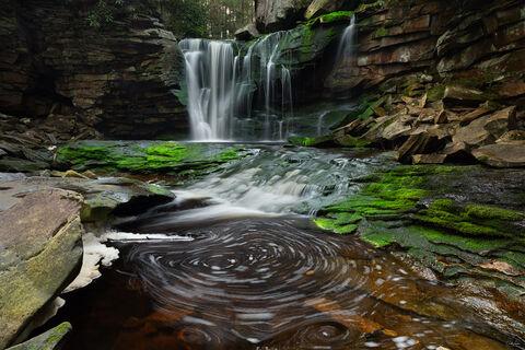 View of Elakala Falls at Blackwater Falls State Park in West Virginia.