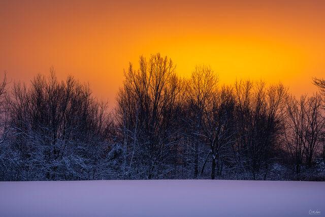 A Winter Sunset print
