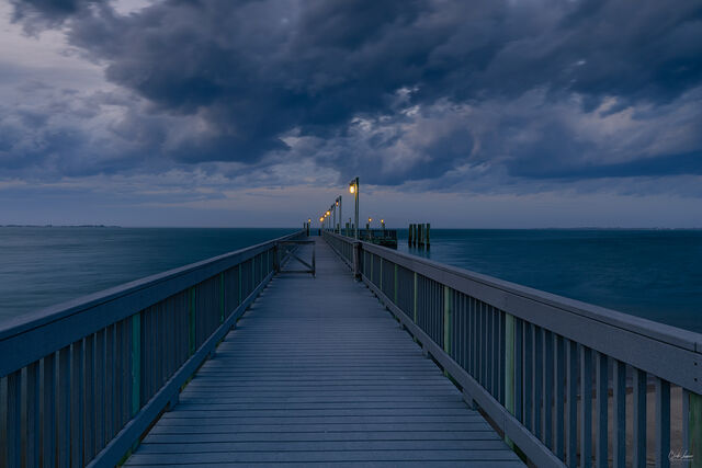 Pier To The Clouds print