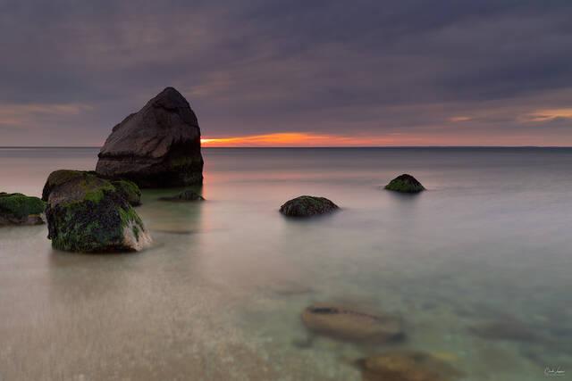 Rocks And The Sea print