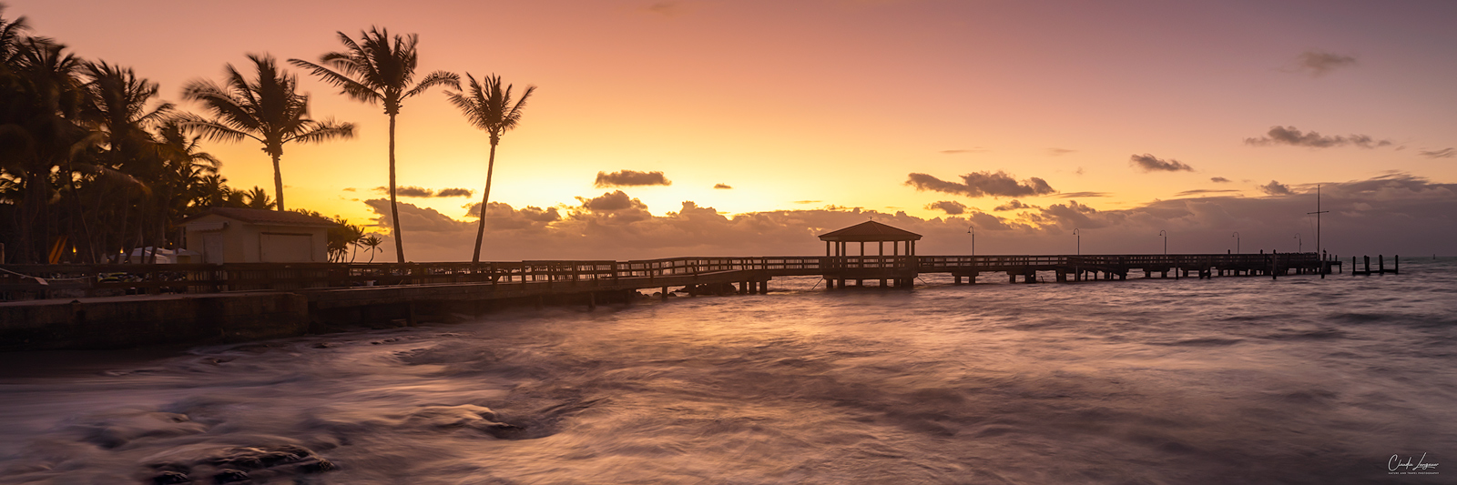 View of the pier at John & Mary Spottswood Waterfront Park in Key West in Florida.