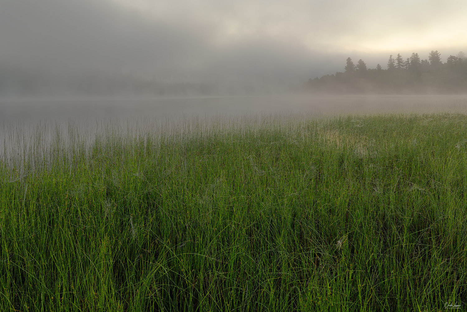 Connery Pond in the Adirondacks at sunrise.