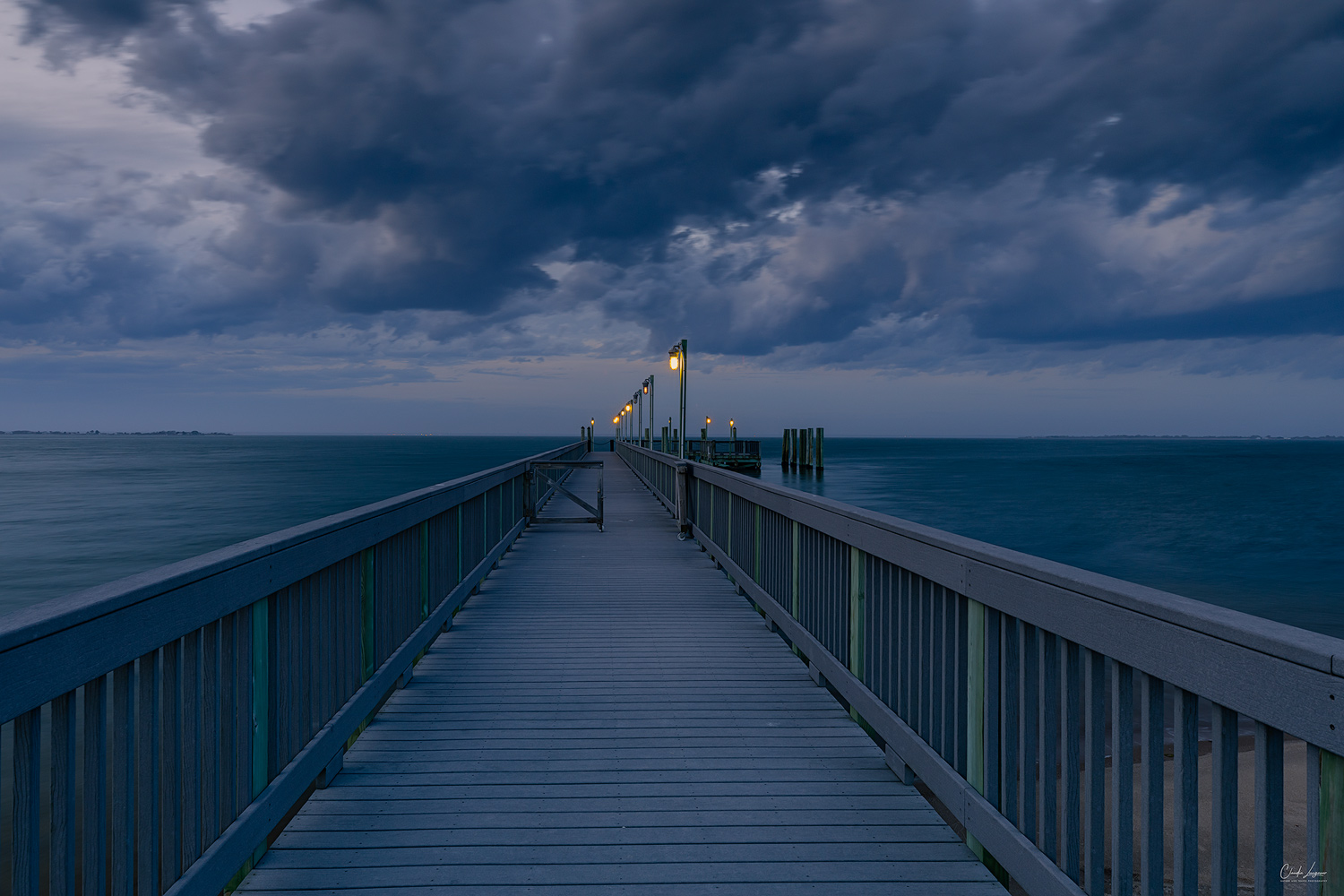 View of the pier at Fire Island in New York.